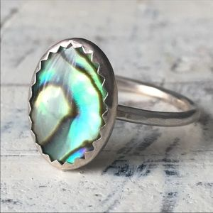 sterling silver abalone ring ✨